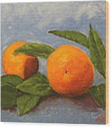 Oranges Wood Print