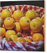 Oranges Plus More Wood Print