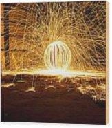 Orb Of Light Wood Print