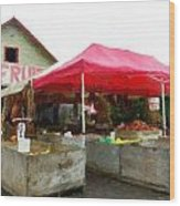Orchard Fruit Stand Wood Print