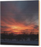 Orchard Sunset Wood Print