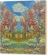 Orchards Wood Print