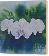Orchid Blast Wood Print