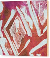 Orchid Diamonds- Abstract Painting Wood Print by Linda Woods