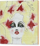 Orchid Lady Wood Print
