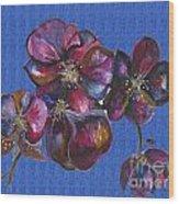 Orchids Blue Wood Print
