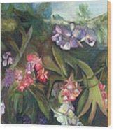 Orchids I Wood Print by Susan Hanlon