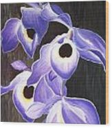 Orchids In Tewantin Wood Print