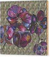 Orchids Zebra Wood Print