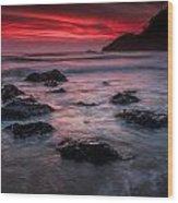 Oregon Afterglow Wood Print