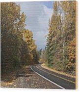 Oregon Autumn Highway Wood Print