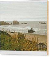 Oregon Beach Wood Print