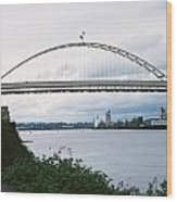 Oregon Bridge Wood Print