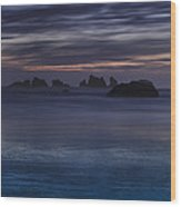 Oregon Coast After Sunset Wood Print by Andrew Soundarajan