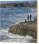Oregon Coast Fishermen Wood Print