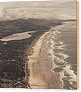 Oregon Coast From Above Wood Print