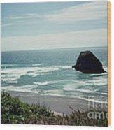 Oregon Coast Ghost Surfer Wood Print