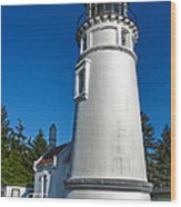 Oregon Coast - Light House Wood Print