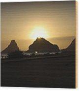 Oregon Coastal Sunset II Wood Print