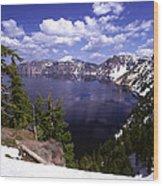 Oregon Crater Lake  Wood Print