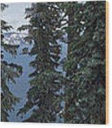 Oregon Crater Lake Panoramic Wood Print