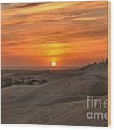 Oregon Dunes Sunset Wood Print