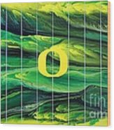 Oregon Football Wood Print