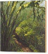 Oregon Forest Trail Wood Print