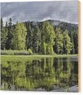 Oregon Lake Wood Print