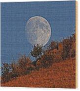 Oregon Moon Wood Print