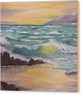 Oregon Seascape Wood Print