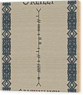 O'reilly Written In Ogham Wood Print