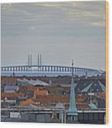 Oresund Bridge Wood Print