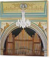 Organ And Ceiling Wood Print
