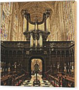 Organ And Choir - King's College Chapel Wood Print