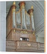 Organ At Westminster Wood Print