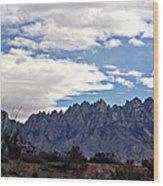 Organ Mountain Landscape Wood Print