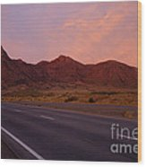 Organ Mountain Sunrise Highway Wood Print by Mike  Dawson