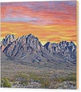 Organ Mountain Sunrise Most Viewed  Wood Print