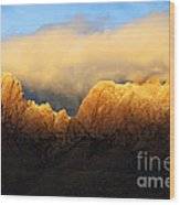 Organ Mountains Symphony Of Light Wood Print by Bob Christopher