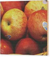 Organic Apples Wood Print