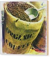 Organic Coffee Wood Print