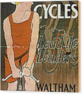Orient Cycles Vintage Bicycle Poster Wood Print