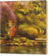 Orient - The Japanese Garden Wood Print