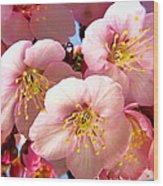 Oriental Flowers Wood Print