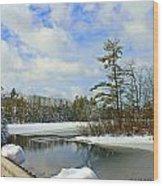 Oriental Powder Mills Lake Wood Print