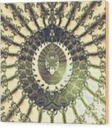 Oriental Sun Abstract Art Wood Print