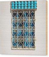 Oriental Window Wood Print