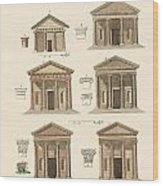 Origin And Development Of Architecture Wood Print by Splendid Art Prints