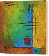 Original Abstract Painting Digital Conversion For Textured Effect Resonating IIi By Madart Wood Print